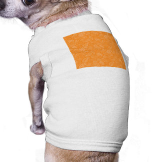 Orange Retro blom- Paisley Långärmad Hundtöja