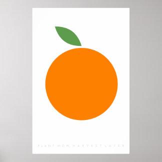 Orange Retro citationstecken för Poster