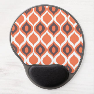 Orange Retro geometriskt Ikat stam- tryckmönster Gel Musmatta