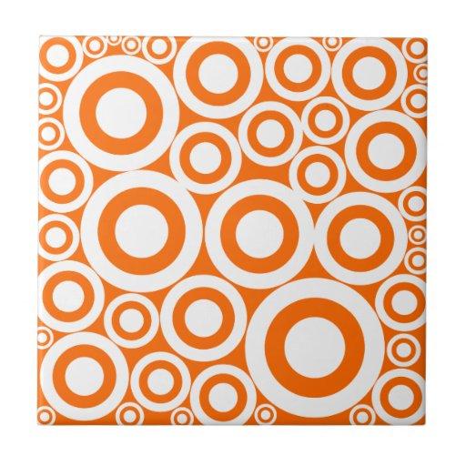 Orange Retro ringar Kakel
