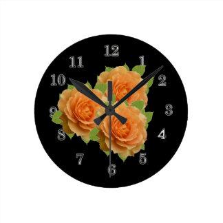 Orange ro rund klocka