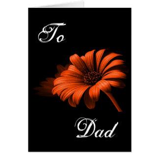 Orange röd daisy för lycklig fars dag III
