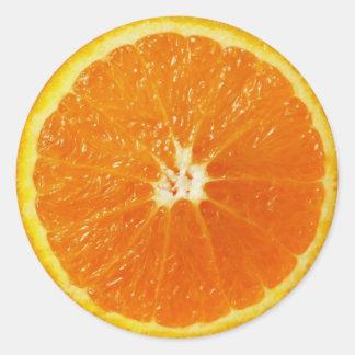 Orange Runt Klistermärke