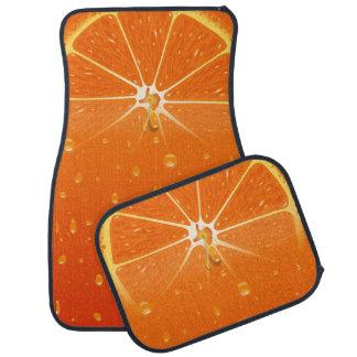 Orange saftiga bilmattor för fruktsaft