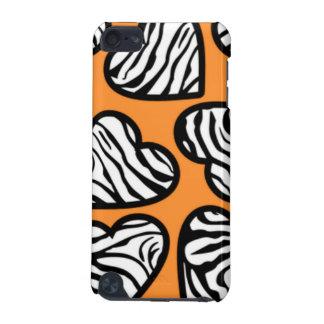 Orange sebrahjärtaipod fodral iPod touch 5G fodral