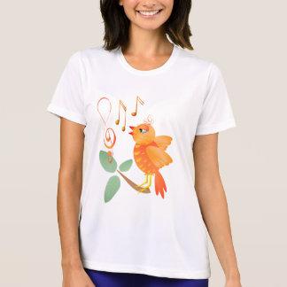 Orange sjungande fågelskjortor t shirts