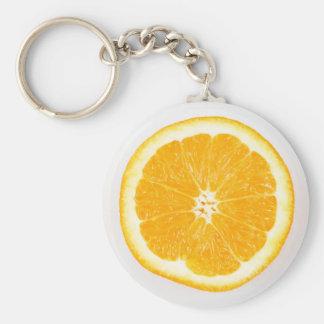 Orange skiva rund nyckelring