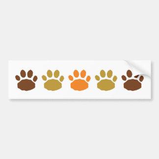 Orange, solbränna och brun djur tass avtryck bildekal