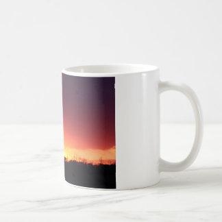 Orange solnedgång kaffemugg