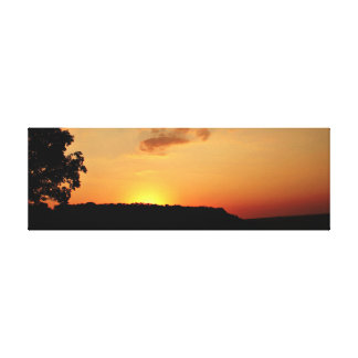 Orange solnedgånghorisontkanfas Pring Canvastryck