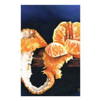 Orange som skalas brevpapper