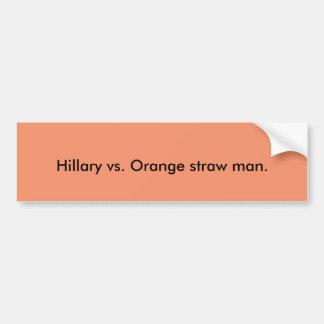Orange sugrörman bildekal