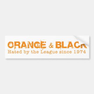 Orange & svart i orange bildekal
