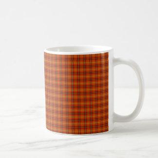 Orange Tartanmugg Kaffemugg