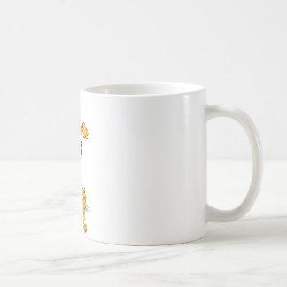 Orange tiger kaffemugg
