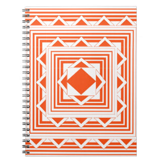 Orange trianglar och linjer anteckningsbok med spiral