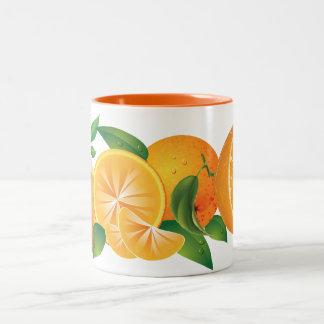 orange Två-Tonad mugg