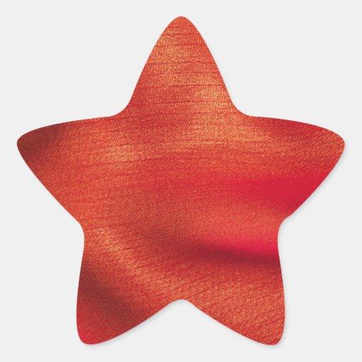 orange tyg stjärnformade klistermärken