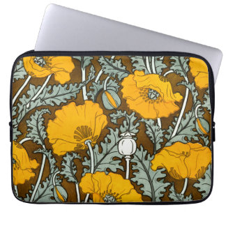 Orange vallmoanteckningsboksleeve laptop sleeve