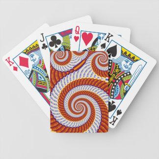 Orange virvel spelkort