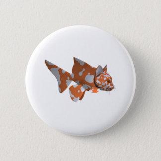 Orange-Vit prickig havskatt Standard Knapp Rund 5.7 Cm