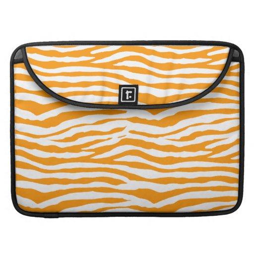 Orange zebra ränder MacBook pro sleeves