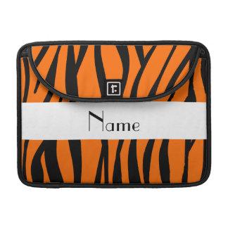 Orange zebra rändervitrand sleeve för MacBook pro