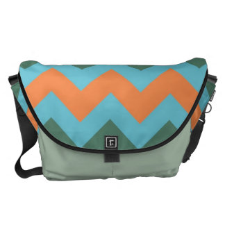 Orange Zigzap för snöstormblåttsparre mönster Kurir Väska