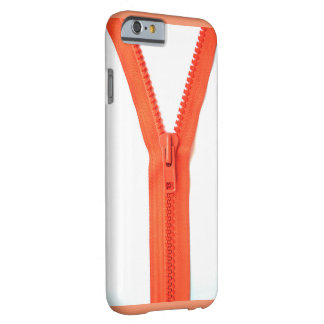 orange-zipper barely there iPhone 6 skal