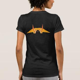 Orangedubblapapper sträcker på halsen den Origami T Shirt