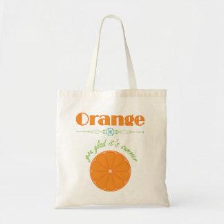 Orangen är du som är glad det, det Themed mönster Budget Tygkasse