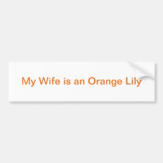 Orangen beställer frubildekalet bildekal