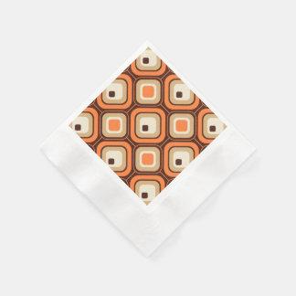 Orangen, bruntet och beigen kvadrerar pappersservett