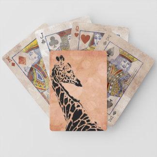 Orangen cirklar giraff~-kort spelkort