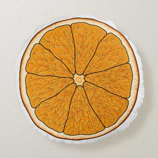 orangen kudder rund kudde