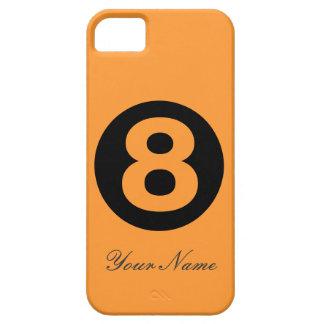 Orangen numrerar fodral åtta iPhone 5 fodral