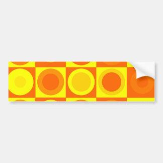 Orangen och gult cirklar kvadrerar mönstergåvor bildekal