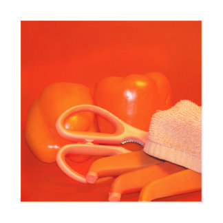 Orangen pepprar kök- & matkonst canvastryck