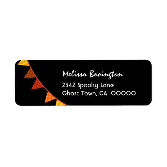ORANGEN SJUNKER det Halloween temat H01 Returadress Etikett