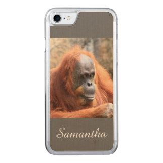 Orangutan Carved iPhone 7 Skal