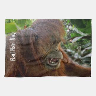 """Orangutan """"dåligahårdag """", kökshandduk"""