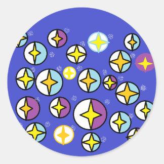 Orbs för himmel för Starry natt Runt Klistermärke