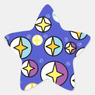Orbs för himmel för Starry natt Stjärnformat Klistermärke