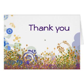 Orbs - tacka dig att card hälsnings kort