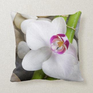 orchid och bambu kudde