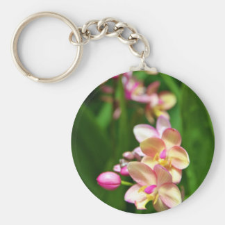 Orchidaceae Keychain Rund Nyckelring