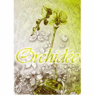 Orchidee Stående Fotoskulptur