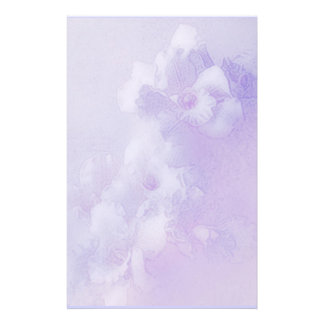 orchiden drömm lavendel brevpapper