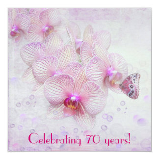 Orchidinbjudan Fyrkantigt 13,3 Cm Inbjudningskort