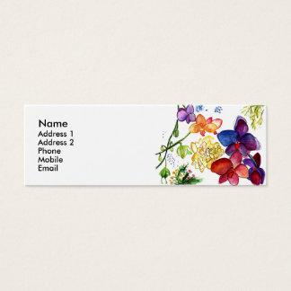Orchidroligt profilerar kortvit litet visitkort